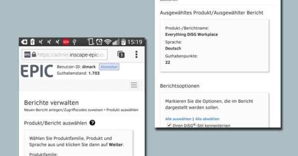 Erstellen Sie nun DiSG®-Profile bequem per Smartphone