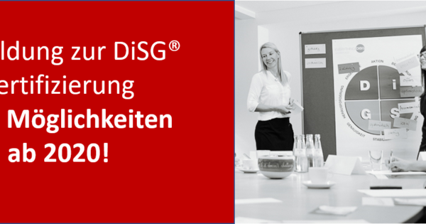 DiSG® Zertifizierung (neu)!